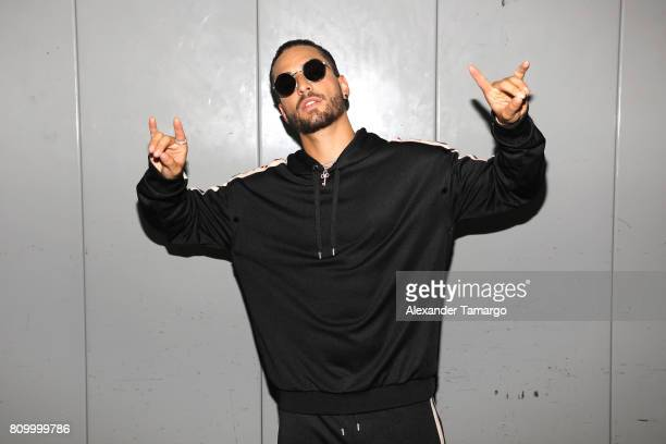Maluma poses backstage during Univision's 'Premios Juventud' 2017 Celebrates The Hottest Musical Artists And Young Latinos ChangeMakers at Watsco...