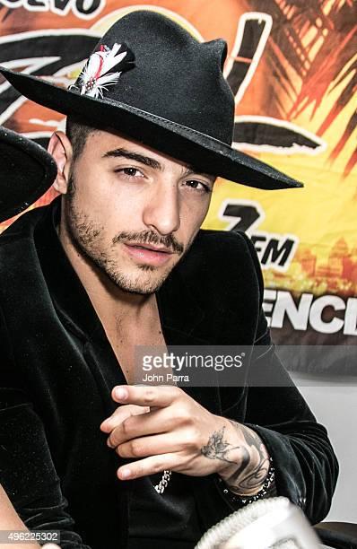 Maluma visits El Zol 1067FM on November 4 2015 in Miami Florida