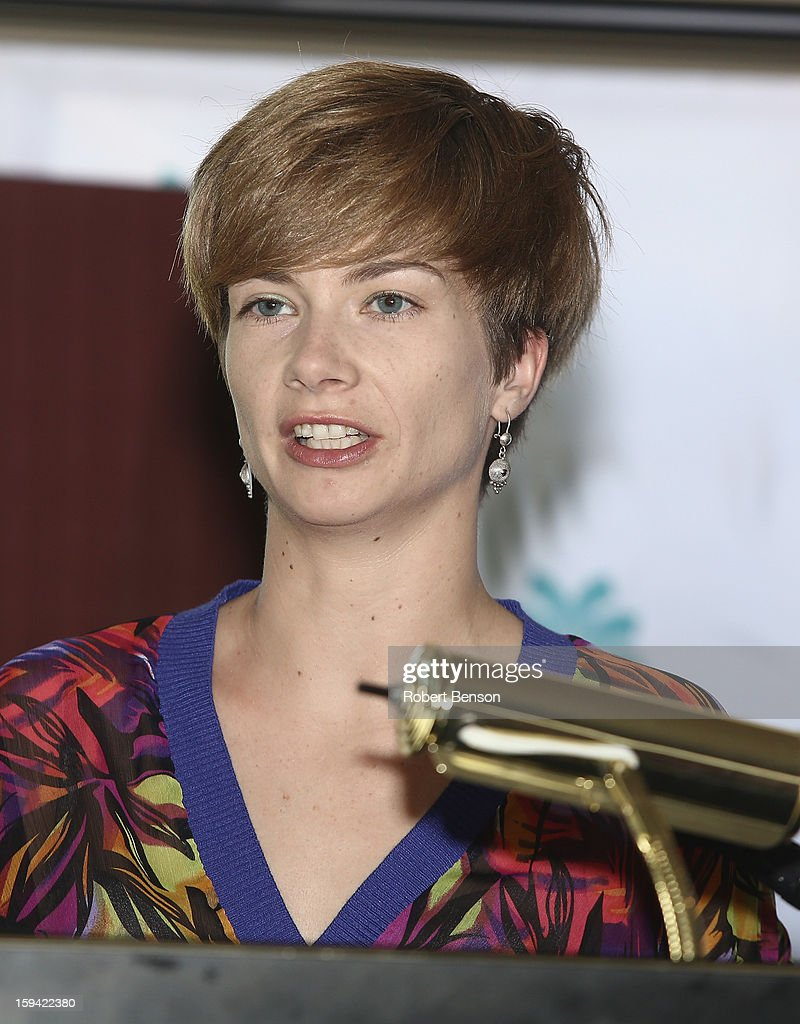 Malwina Grochowska speaks at a Festival Awards Brunch at the 24th Annual Palm Springs International Film Festival on January 13, 2013 in Palm Springs, California.