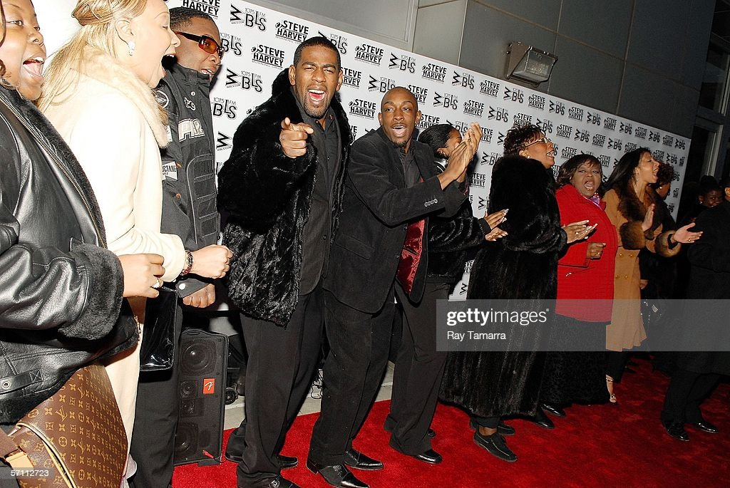 'Mama I Want To Sing' cast members attend the premiere of Steve Harvey's 'Don't Trip...He Ain't Through With Me Yet' at the Magic Johnson Theaters March 16, 2006 in New York City.