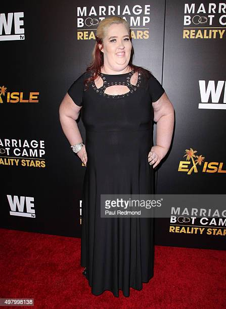 Mama June Shannon arrives at We tv celebrates the Premiere of 'Marriage Boot Camp' Reality Stars and 'Exisled' at Le Jardin on November 19 2015 in...
