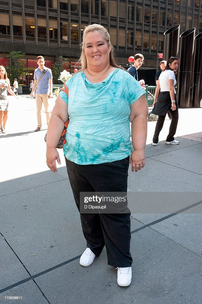 Mama June visits 'Extra' in Times Square on July 15, 2013 in New York City.