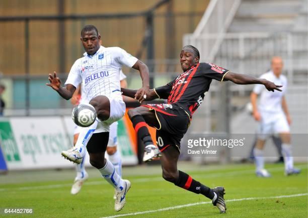Mamadou BAGAYOKO / Adama COULIBALY Auxerre / Nice 5eme journee de Ligue 1 Auxerre Photo Dave Winter / Icon Sport