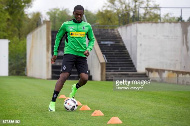 Mamadou Doucoure during a rehab training session at BorussiaPark on May 03 2017 in Moenchengladbach Germany