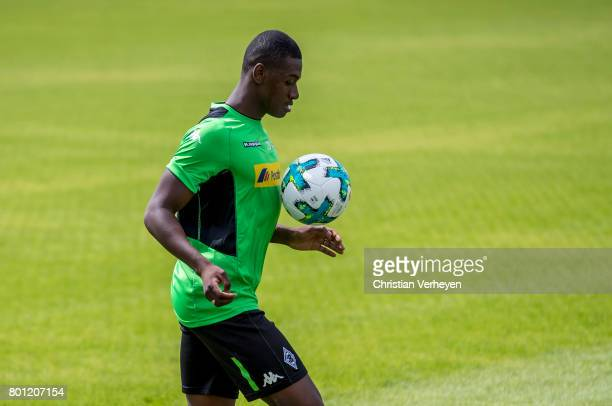 Mamadou Doucoure during a training session of Borussia Moenchengladbach at BorussiaPark on June 26 2017 in Moenchengladbach Germany
