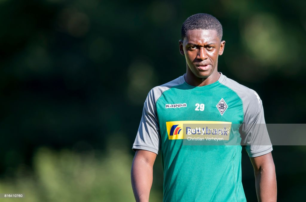 Mamadou Doucoure of Borussia Moenchengladbach during a training session at the Training Camp of Borussia Moenchengladbach on July 17, 2017 in Rottach-Egern, Germany.