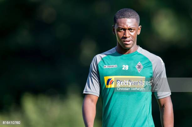 Mamadou Doucoure of Borussia Moenchengladbach during a training session at the Training Camp of Borussia Moenchengladbach on July 17 2017 in...