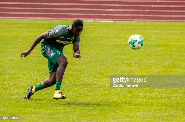 Mamadou Doucoure of Borussia Moenchengladbach during a training session at the Training Camp of Borussia Moenchengladbach on July 19 2017 in...
