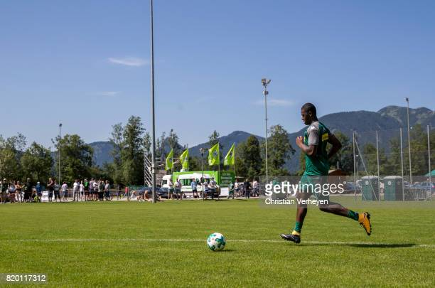 Mamadou Doucoure of Borussia Moenchengladbach during a training session at the Training Camp of Borussia Moenchengladbach on July 21 2017 in...