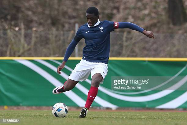 Mamadou Doucoure of France during the friendly match between U18 Germany and U18 France at SaarMoselStadium on March 24 2016 in Konz Germany
