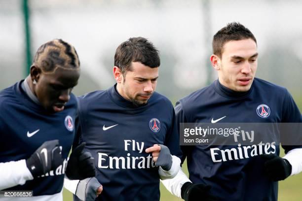 Mamadou SAKHO / Mateja KEZMAN / Mevlut ERDING Entrainement du PSG Camp des Loges Saint Germain en Laye