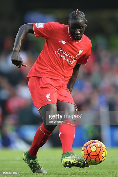 Mamadou Sakho of Liverpool in action during the Barclays Premier League match between Chelsea and Liverpool at Stamford Bridge on October 31 2015 in...