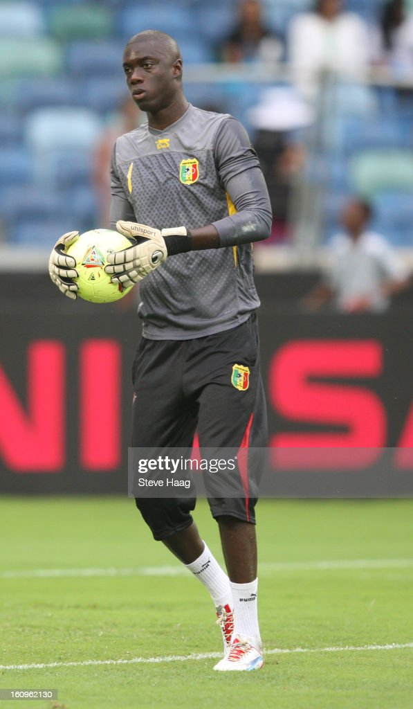 Mamadou Samassa G/K of Mali during the 2013 African Cup of Nations Semi-Final match between Mali and Nigeria at Moses Mahbida Stadium on February 06, 2013 in Durban, South Africa.