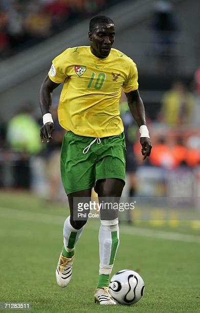 Mamam CherifToure of Togo in action during the FIFA World Cup Germany 2006 Group G match between Togo and France at the Stadium Cologne on June 23...