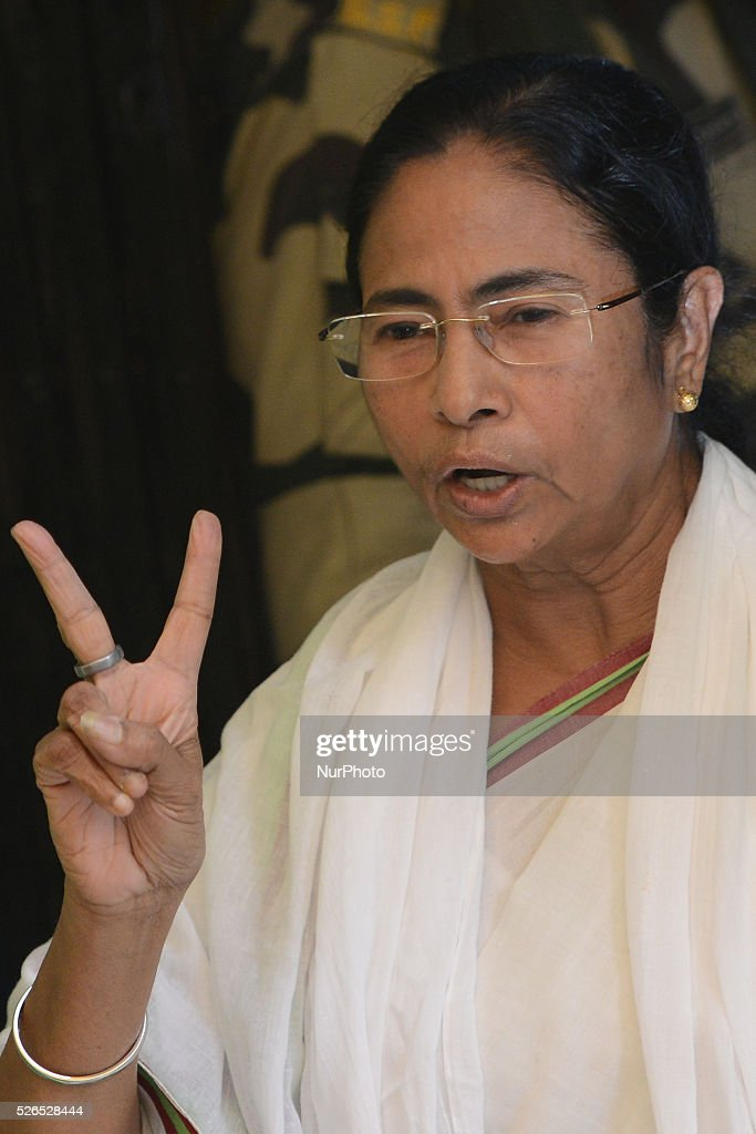 Mamata Banerjee Chief Minister of West Bengal & Chief of Trinamool Congress votes in South Kolkata Mitra Institute School poling Station during West Bengal Legislative Assembly election, in Kolkata, India, on April 30, 2016.