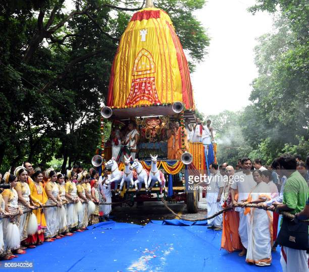 Mamata Banerjee Chief Minister of West Bengal join the ritual on the last day of the week long Rathyatra celebration of Lode Jagannath's Rath Yatra...