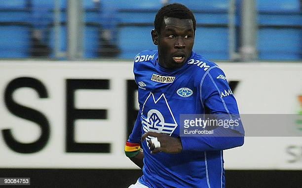 Mame Biram Diouf of Molde FK during the Norwegian Tippeligaen match between Molde FK and Stabaek IF held on October 17 2009 at the Aker Stadion in...