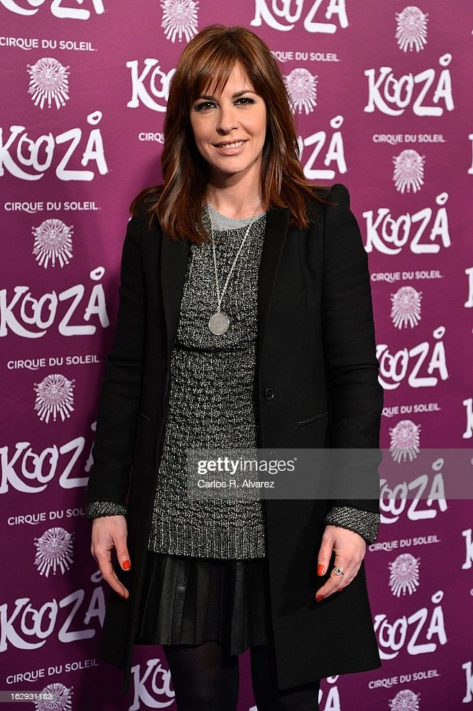 Mamen Mendizabal attends 'Cirque Du Soleil' Kooza 2013 premiere on March 1, 2013 in Madrid, Spain.
