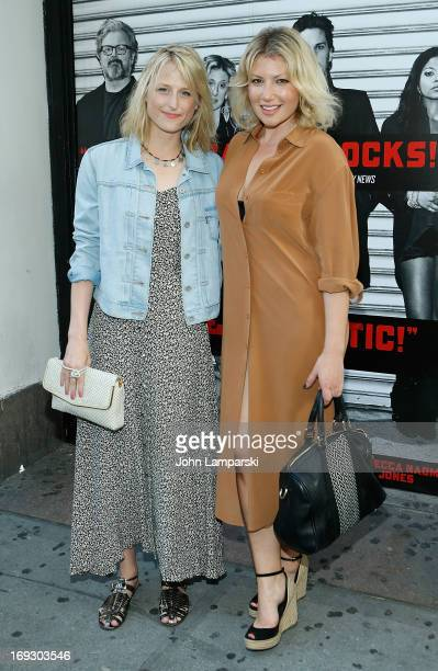 Mamie Gummer and Ari Graynor attend the 'Murder Ballad' Opening Night at the Union Square Theatre on May 22 2013 in New York City