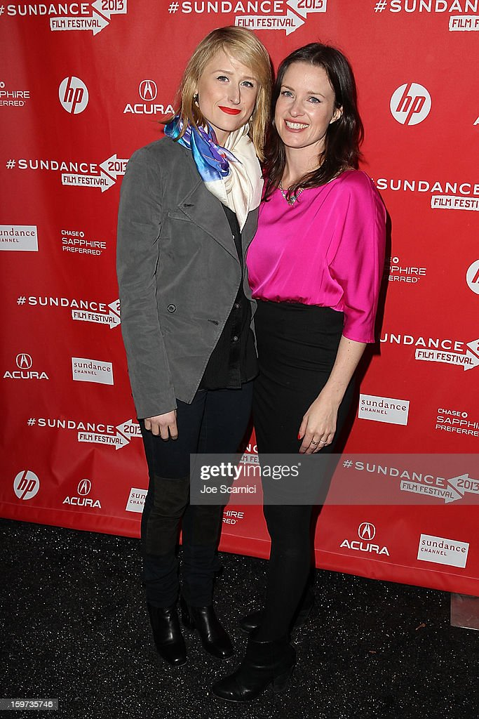 <a gi-track='captionPersonalityLinkClicked' href=/galleries/search?phrase=Mamie+Gummer&family=editorial&specificpeople=805216 ng-click='$event.stopPropagation()'>Mamie Gummer</a> and Liz Garcia arrive at 'The Lifeguard' Premiere - 2013 Sundance Film Festival at Library Center Theater on January 19, 2013 in Park City, Utah.