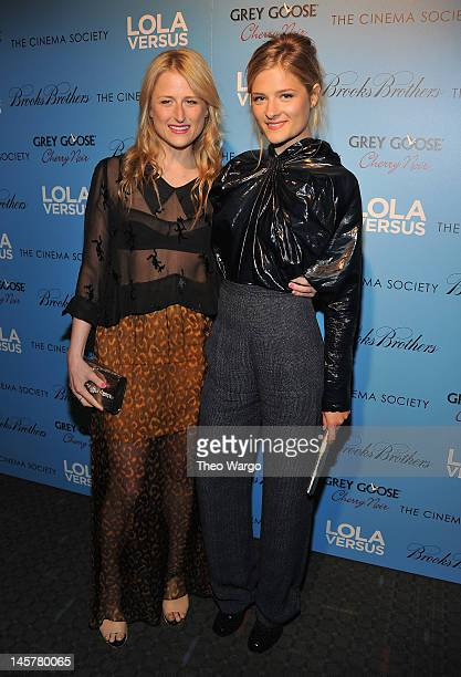 Mamie Gummer and Louisa Gummer attend The Cinema Society Brooks Brothers with Grey Goose screening of 'Lola Versus'>> at the SVA Theater on June 5...
