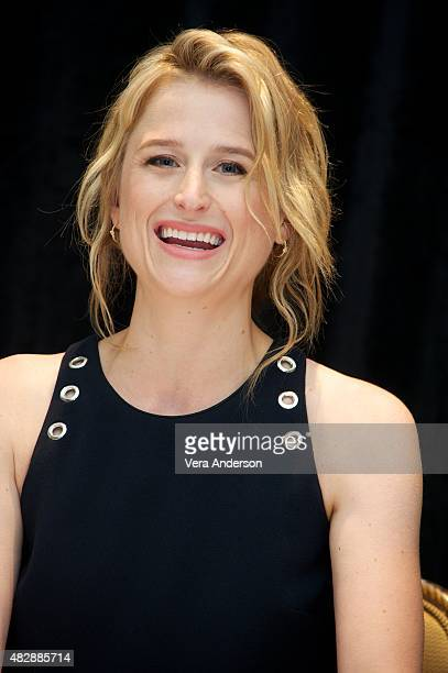 Mamie Gummer at the 'Ricki And The Flash' Press Conference at the Ritz Carlton Hotel on August 2 2015 in New York City