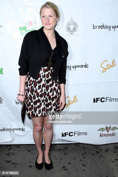 Mamie Gummer attends IFC FILMS Presents the New York Premiere of BREAKING UPWARDS at IFC Film Center on April 1 2010 in New York City
