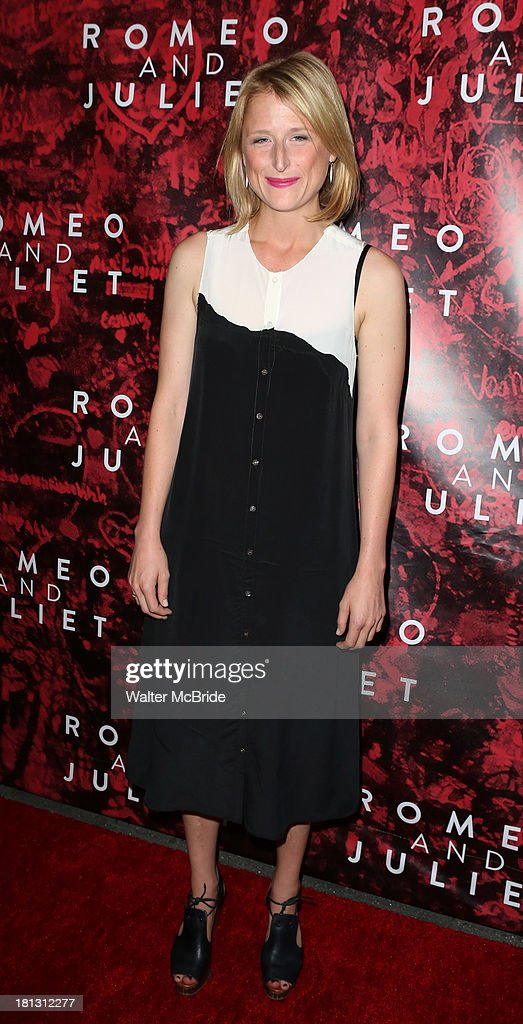 <a gi-track='captionPersonalityLinkClicked' href=/galleries/search?phrase=Mamie+Gummer&family=editorial&specificpeople=805216 ng-click='$event.stopPropagation()'>Mamie Gummer</a> attends the 'Romeo And Juliet' Broadway Opening Night at Richard Rodgers Theatre on September 19, 2013 in New York City.