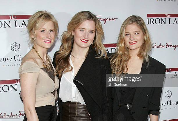 Mamie Gummer Grace Gummer and Louisa Gummer attends the 'The Iron Lady' New York premiere at the Ziegfeld Theater on December 13 2011 in New York City