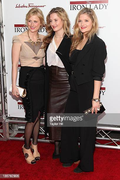 Mamie Gummer Grace Gummer and Louisa Gummer daughters of Meryl Streep attend the 'The Iron Lady' New York premiere at the Ziegfeld Theater on...