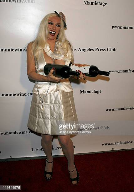 Mamie Van Doren arrives at the National Launch event for Mamie Van Doren's new wine collection MAMITAGE at Eleven Club on November 14 2007 in West...