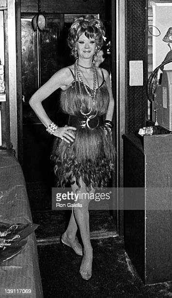 Mamie Van Doren attends the opening party for 'Hair' on May 16 1968 at Paparazzi Restaurant in New York City