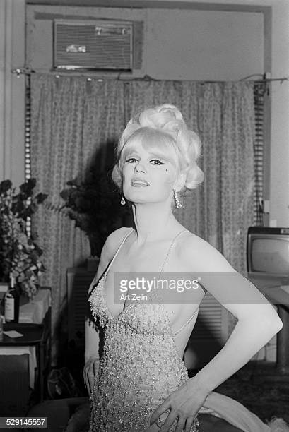 Mamie Van Doren in beaded dress circa 1970 New York