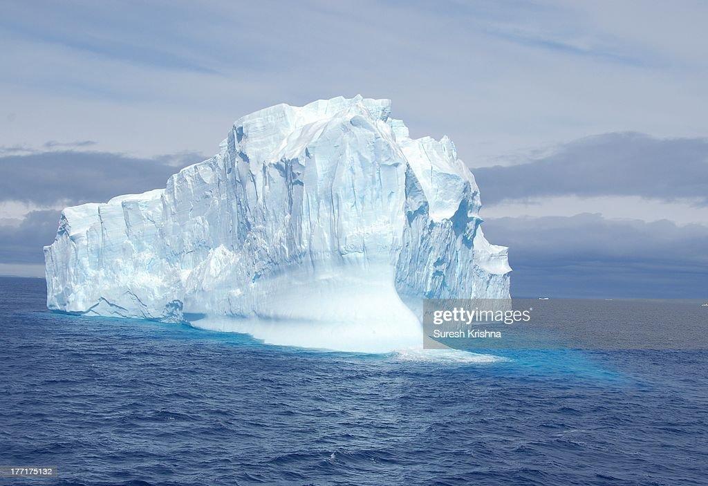 A mammoth iceberg in Antarctica