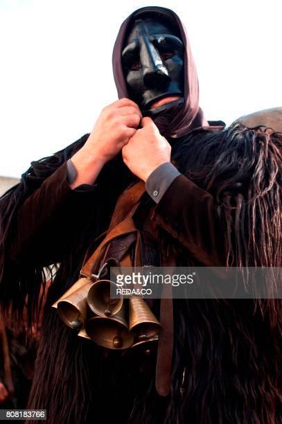 Mamoiada Carnival sos Mamuthones Dressing Barbagia Sardinia Italy Europe