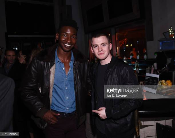 Mamoudou Athie and Jack Difalco attend the 2017 Tribeca Film Festival After Party For One Percent More Humid sponsored by Bulleit Bourbon at The...