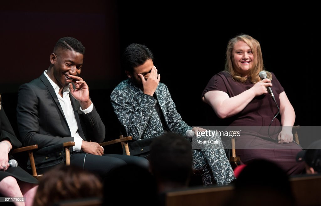 Mamoudou Athie, Siddharth Dhananjay and Danielle Macdonald visit SAG-AFTRA Foundation to discuss 'Patti Cake$' at SAG-AFTRA Foundation Robin Williams Center on August 13, 2017 in New York City.