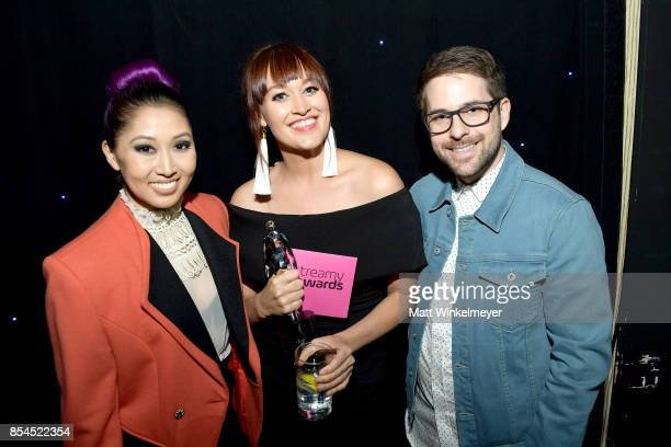 Mamrie Hart and guests at the 2017 Streamy Awards at The Beverly Hilton Hotel on September 26 2017 in Beverly Hills California