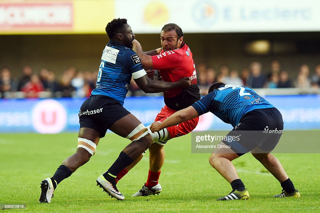 Mamuka Gorgodze of Toulon during the rugby Top 14 match between Montpelier and RC Toulon on May 29, 2016 in Montpellier, France.