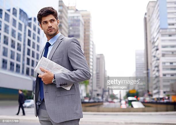 Uomo sulla città
