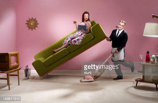Uomo di casa : Stock Photo