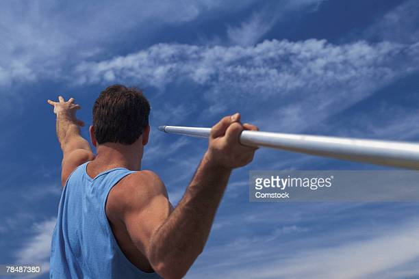 Man about to hurl javelin
