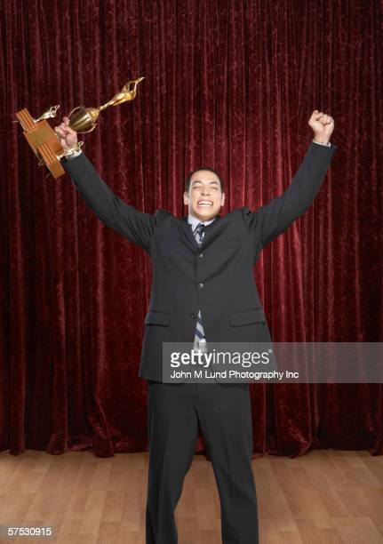 Man accepting an award
