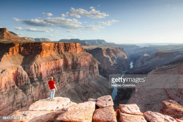 Man admiring sunset over Grand Canyon, USA