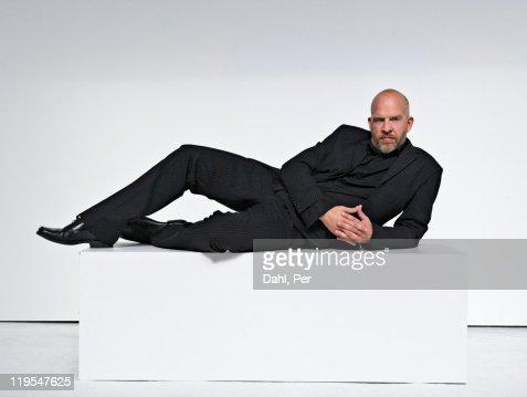 Man against white background, portrait