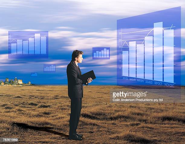Man analyzing business projections
