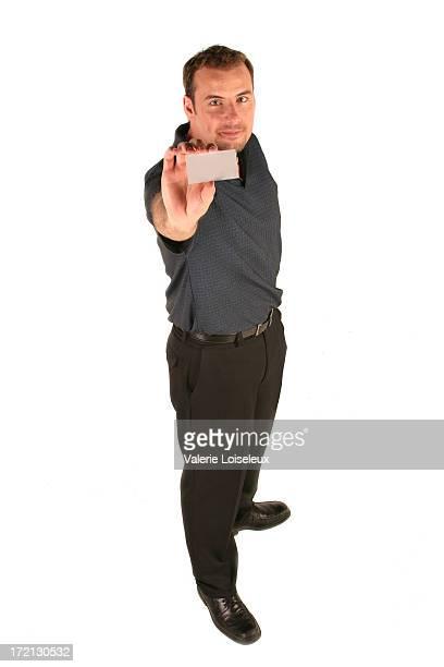 Hombre y tarjeta de negocios