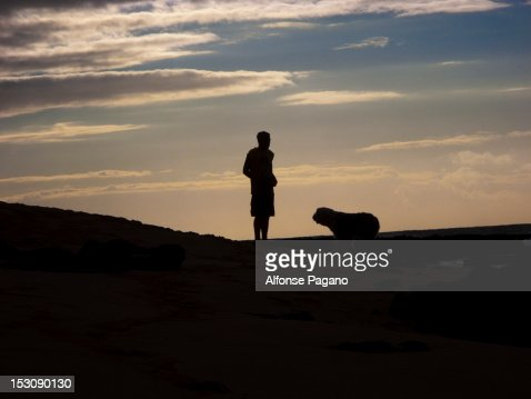 Man and Dog : Stock Photo