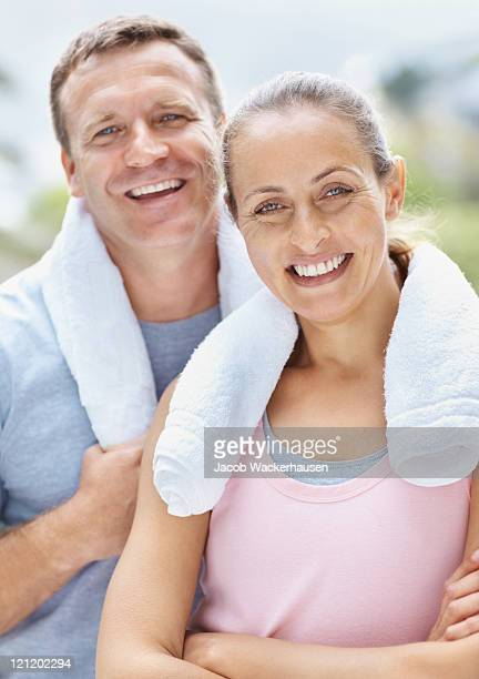 Man and woman after a workout