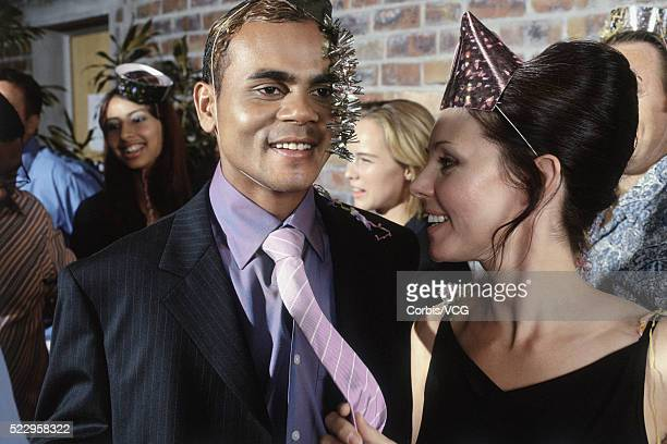 Man and Woman at Office Party